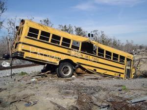 Post-Katrina-school-bus
